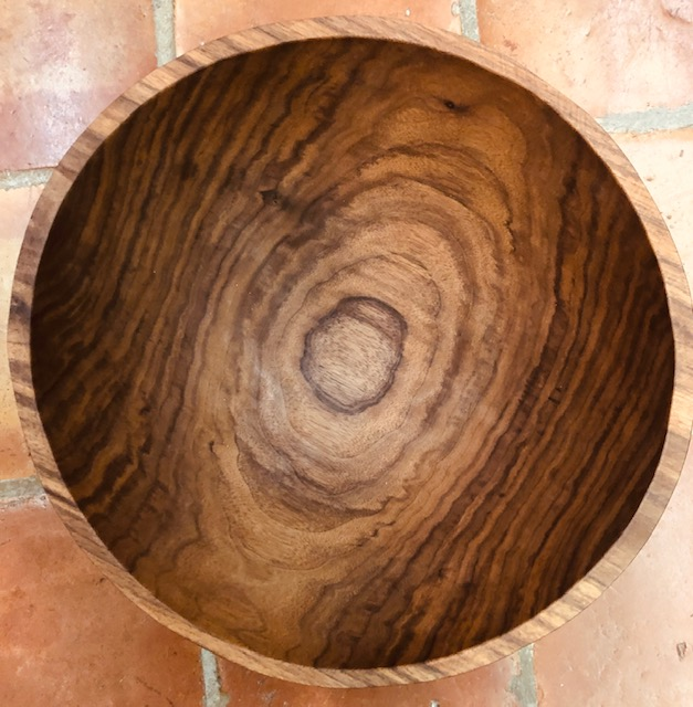"15"" Black Walnut Round Bowl"
