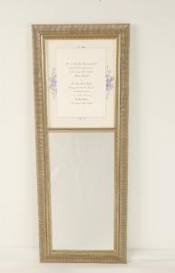 Silver Ribbed Mirror w/Wedding Invitation