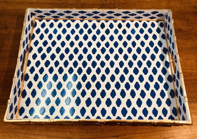 Blue and White Large Tray