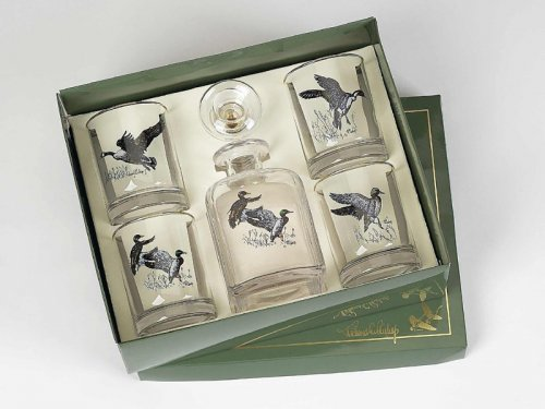 Set Of 4 Waterfowl Double Old Fashion