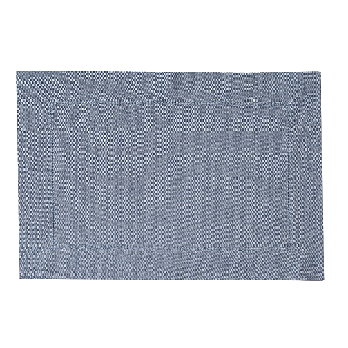 Blue Hemstitch Placemat