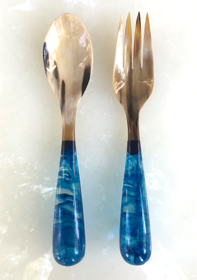 Light Blue Salad Servers