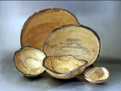 "15"" Round Spalted Maple Salad Bowl"