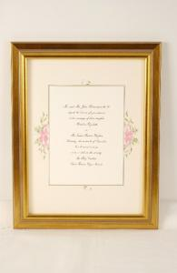 Framed Wedding Invitation with Classic Frame