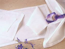Double Hemstitch White Placemat
