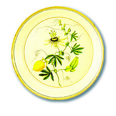 Round Tole Tray with Verbena