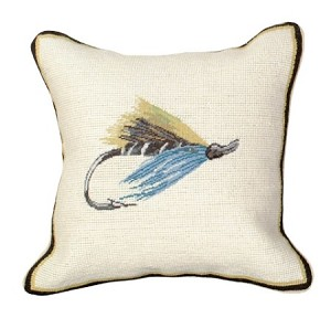 12x12 Pillow Blue Hairy Mary- fly